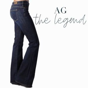 AG Adriano Goldschmied the legend size 32 mid rise flare denim jeans